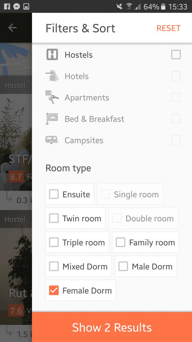 hostel app for solo female travelers