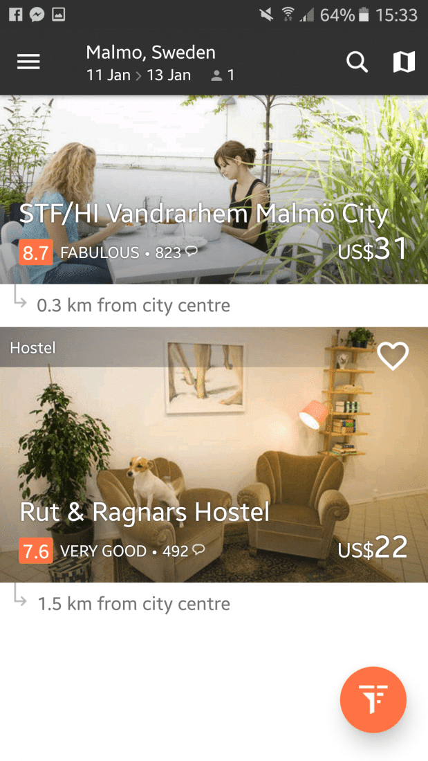 hostel app for female travelers