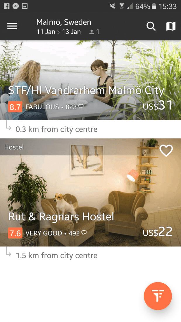 hostel app for female travelers