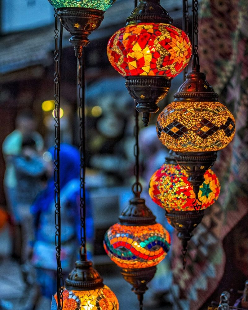Turkish lamps hanging in beautiful Sarajevo, things to do in Sarajevo