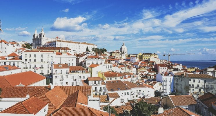the rooftops of Alfama - miradors in Lisbon