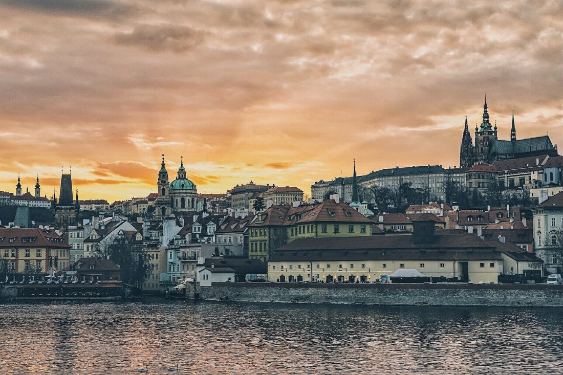 Sunset in Prague, best day trips from Prague