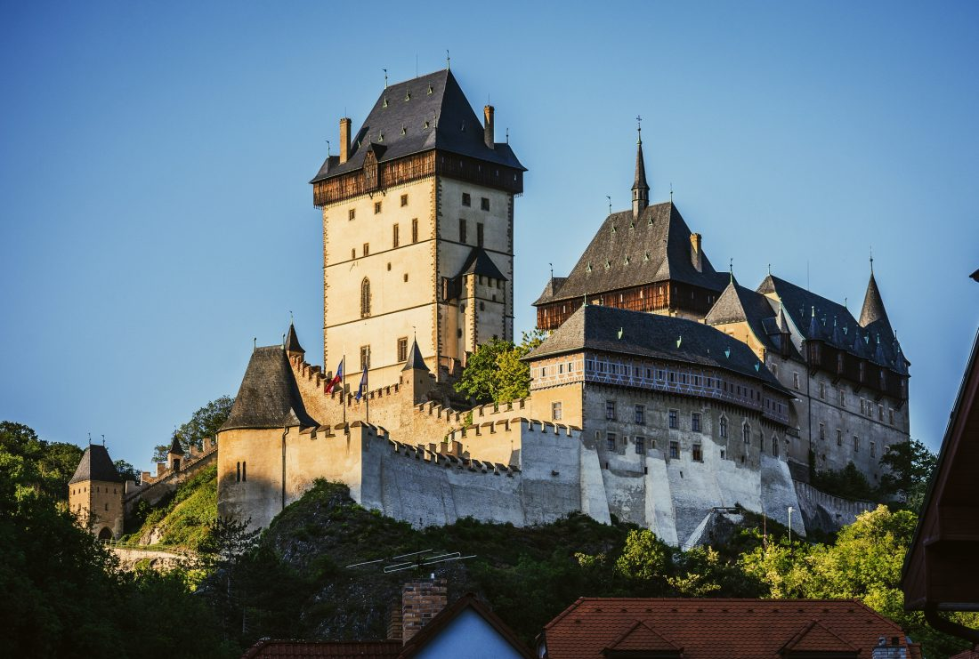 karlstejn castle in the czech republic