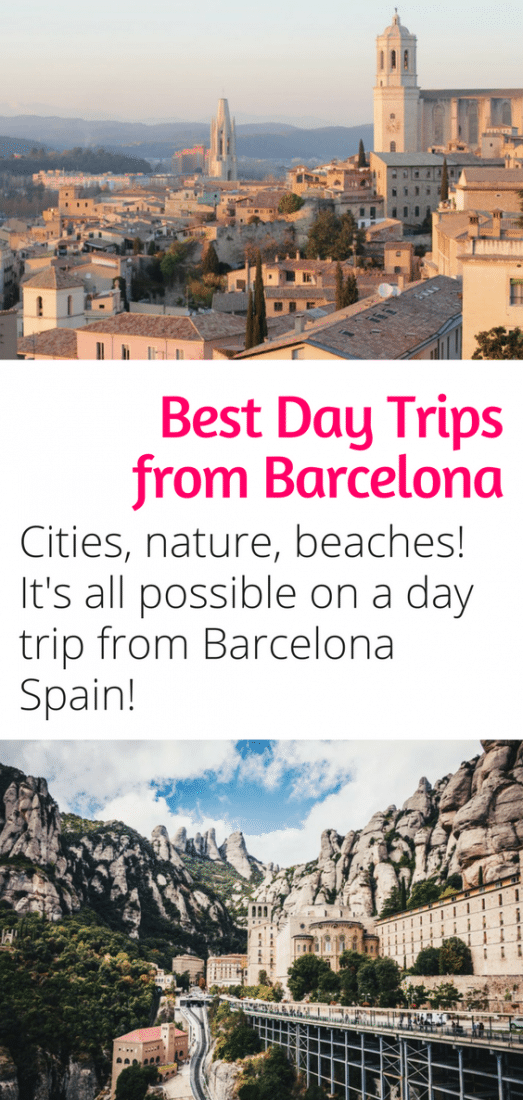 Best Day Trips from Barcelona - Villages, Cities, beaches, and nature. It's all possible on a day trip from Barcelona Spain. Click here to discover the area surrounding Barcelona!
