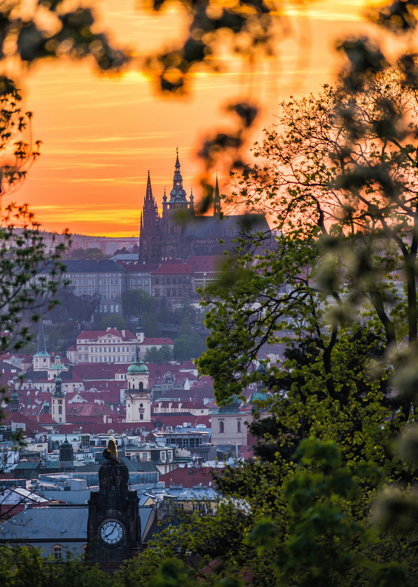 Riegrovy Sady Prague Sunset