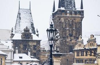 prague gallery - snow in prague