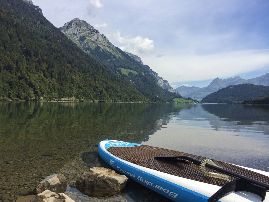 paddleboarding in switzerland