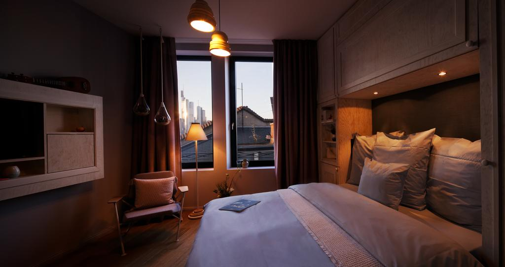 the absolute best boutique hotels in frankfurt just a pack. Black Bedroom Furniture Sets. Home Design Ideas