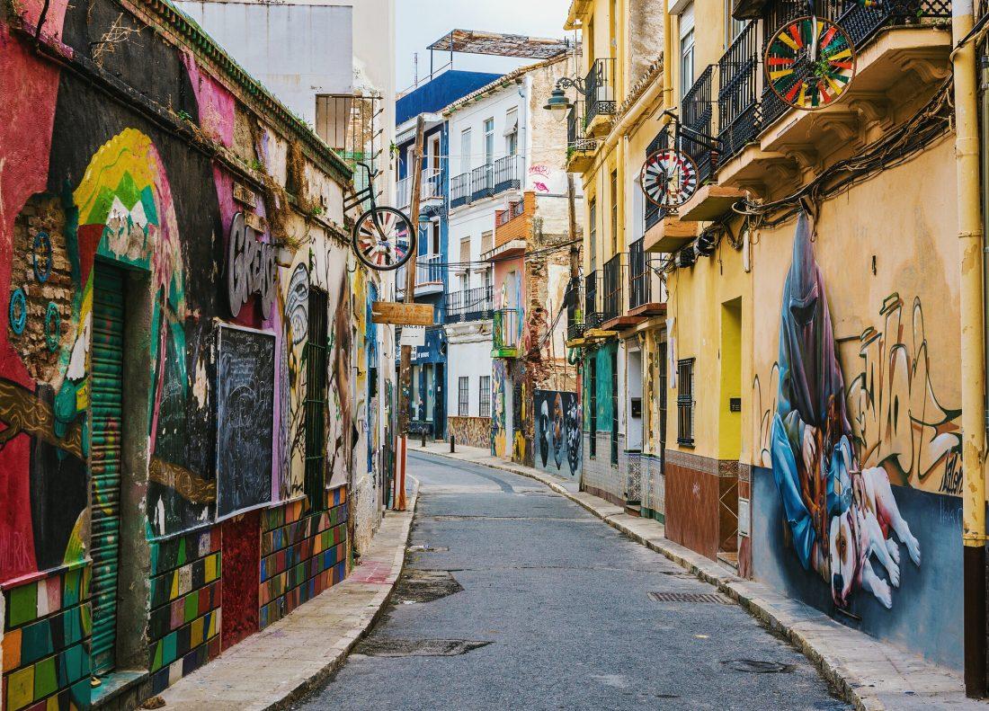 street art in Malaga Spain