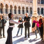 Things to do in Seville Spain, flemenko in Plaza de Espana