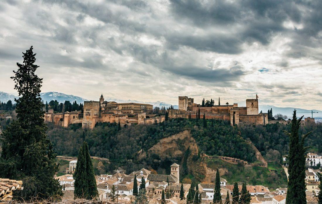 the best hostels in granada, spain - alhambra views