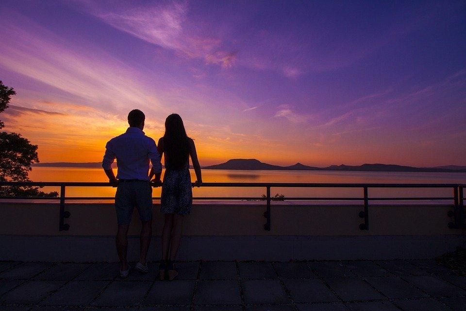 sunset lake balaton