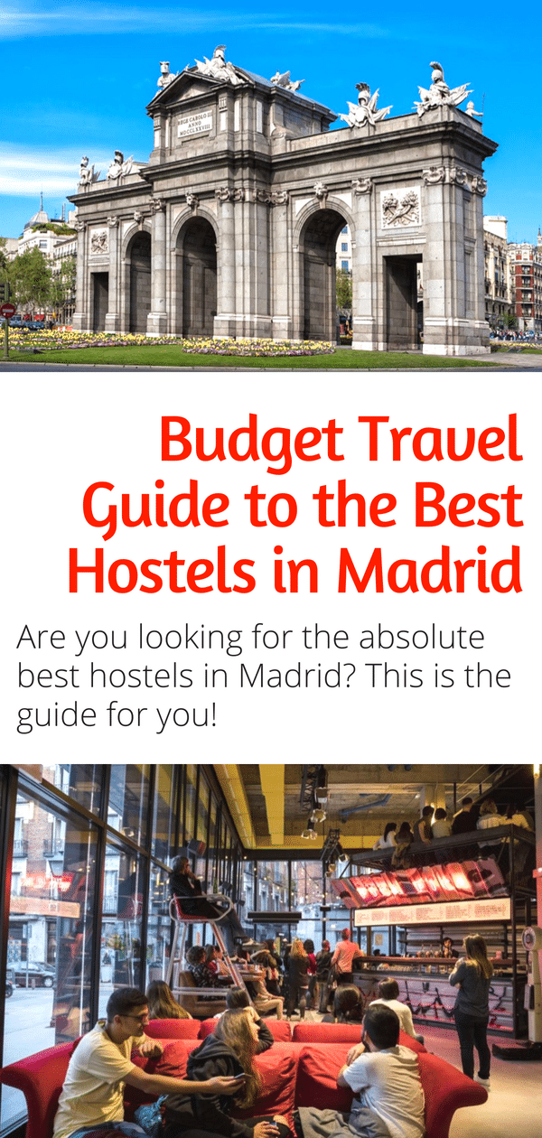 Budget Travel Guide to the Best Hostels in Madrid! Traveling Europe on a budget? Heading to Spain and looking for the best hostels in Madrid? Check out this guide! #europe #hostels #madrid #spain #budgettravel