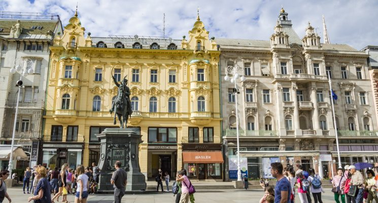 the best hostels in zagreb - old town square