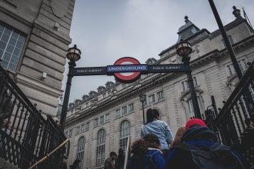 London Underground Entrance Signs