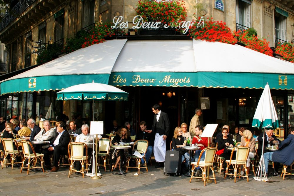 People watching at a Parisian Cafe