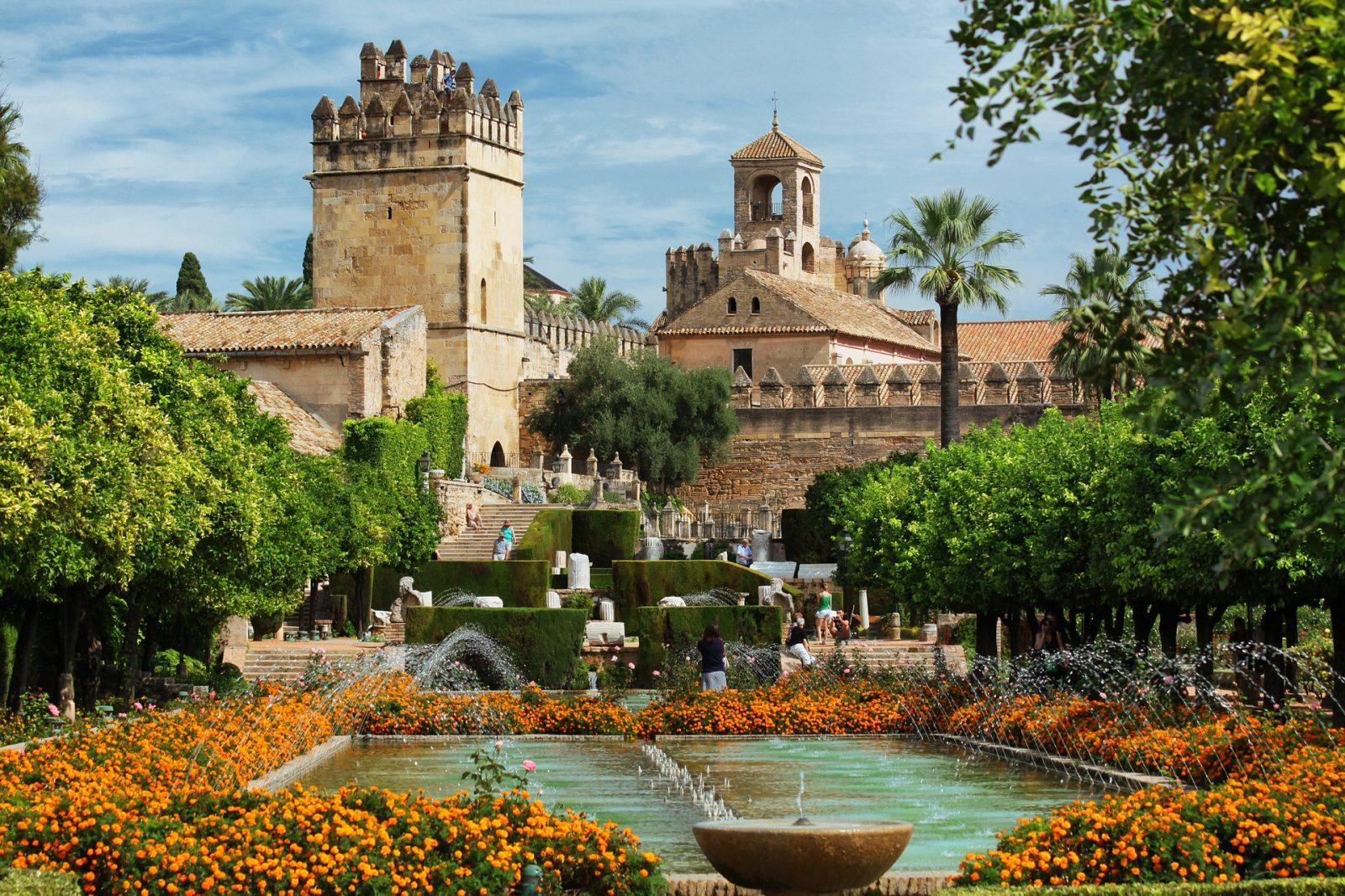 Alcázar de los Reyes Christianos in Cordoba Spain