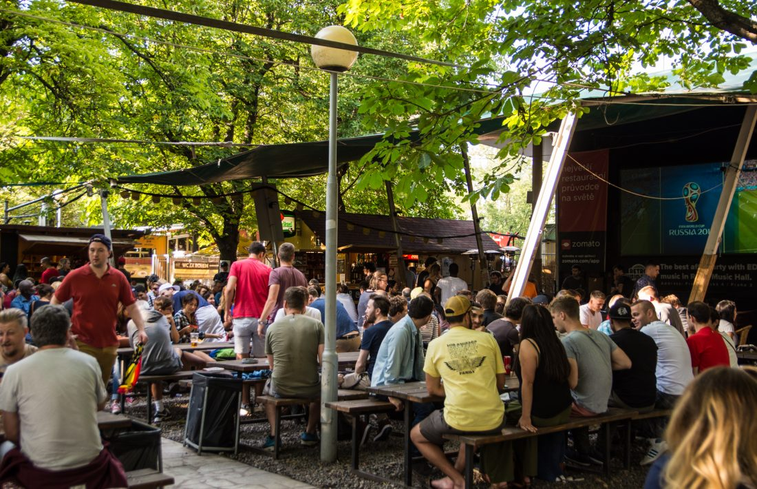 where to drink beer in Prague - Riegrovy Sady beer garden