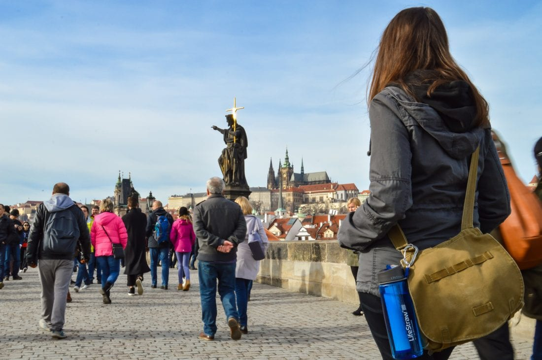 things to do in prague - views of prague castle from the charles bridge