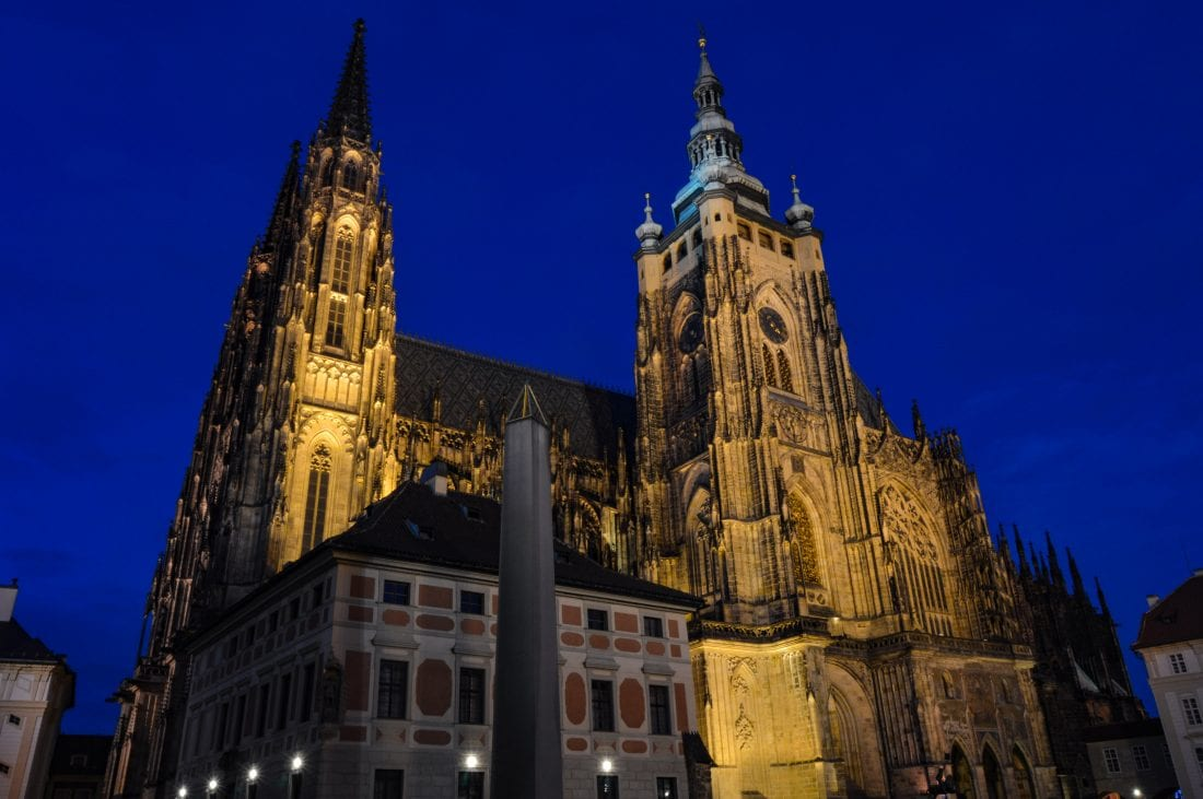 Explore Prague Castle at night