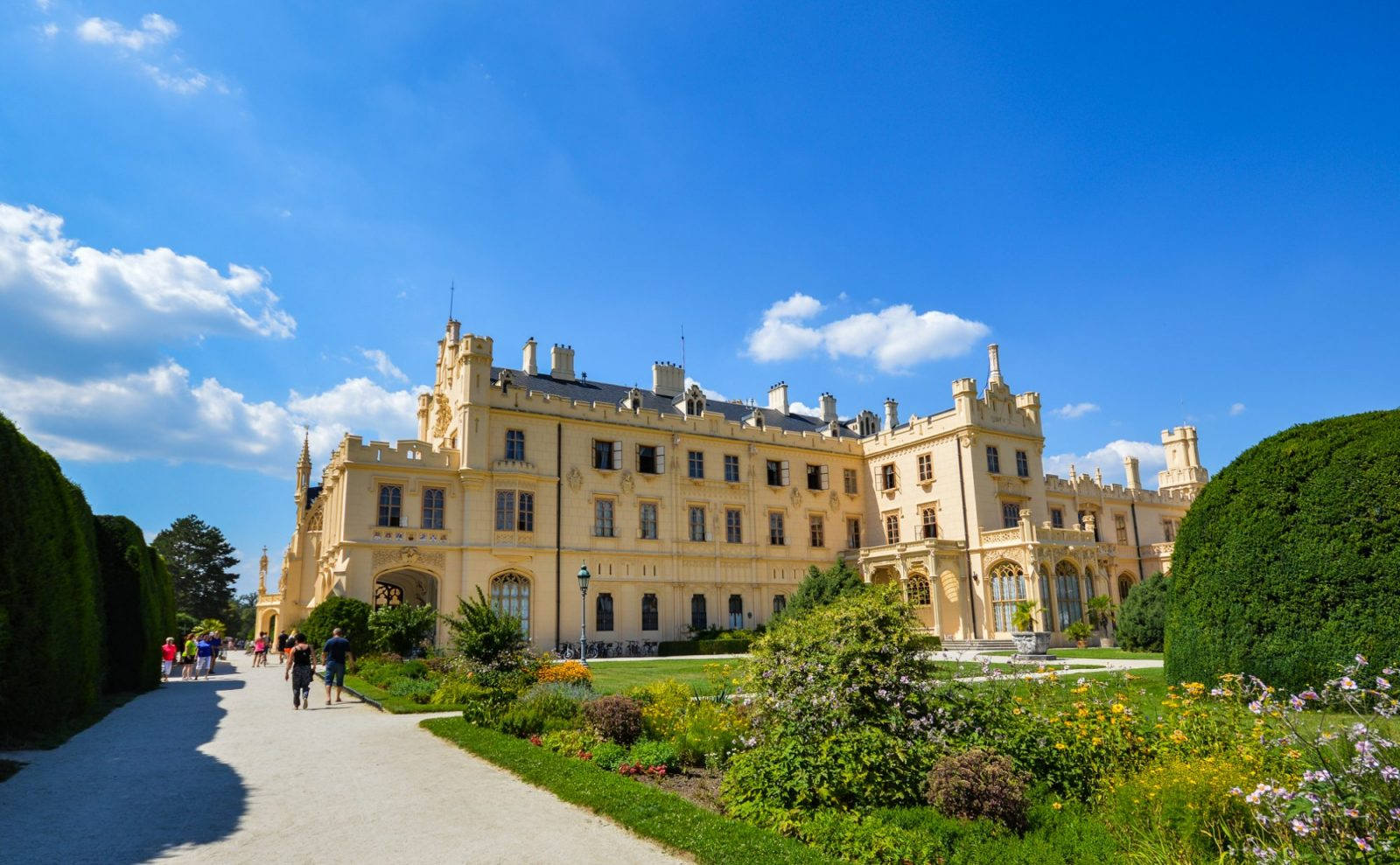 Lednice Chateau in South Moravia
