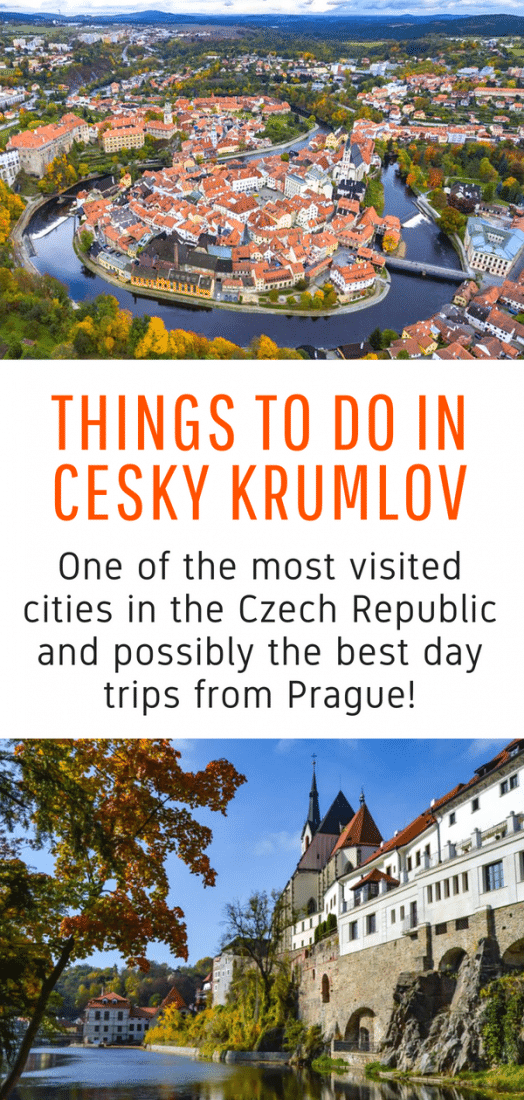Cesky Krumlov is one of the best day trips from Prague in the Czech Republic. Don't miss out on the best sites. Here are all the best things to do in Cesky Krumlov! #ceskykrumlov #prague #czechrepublic #europe #travel
