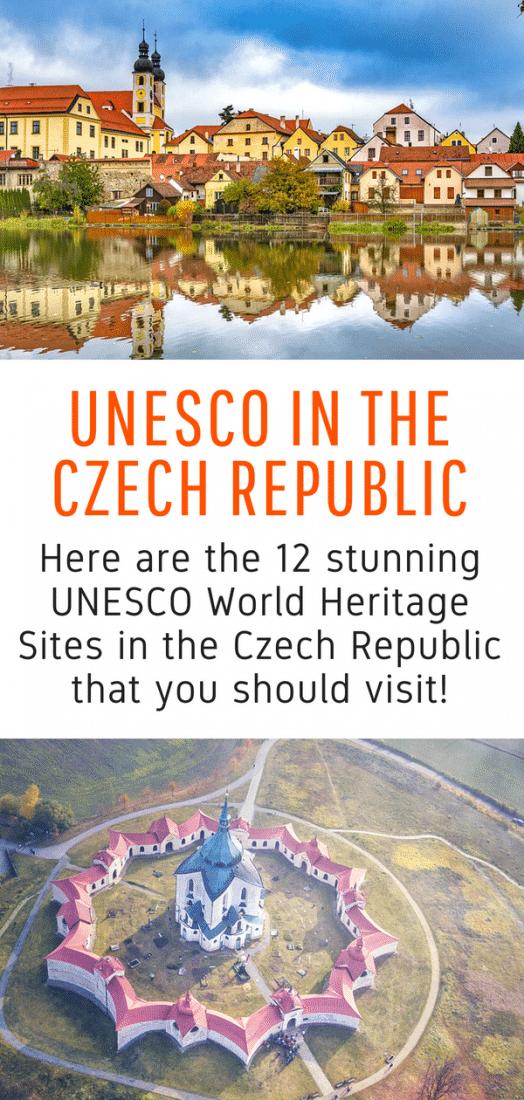 UNESCO Czech Republic - The Czech Republic has 12 UNESCO World Heritage Sites. Here is your guide to discovering them all! #UNESCO #czechrepublic #prague #brno #castles #travel #europe