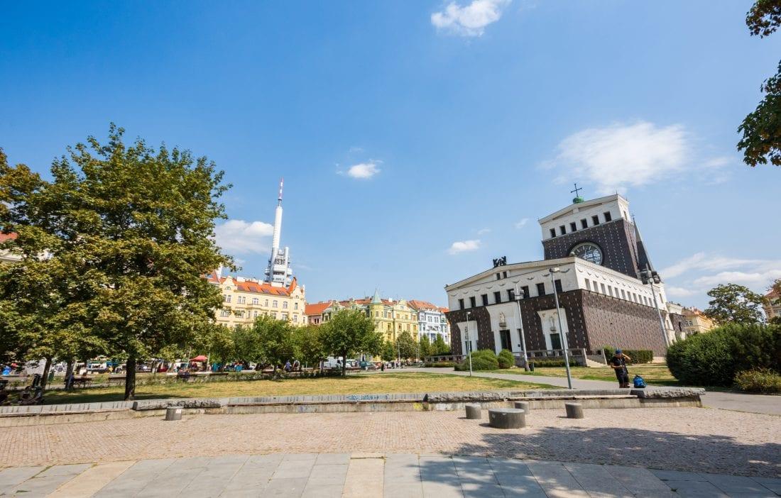 Exploring Prague - Jiřího z Poděbrad in Zizkov