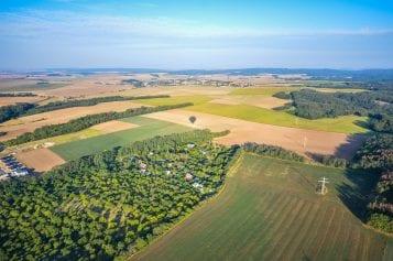 Views From a Hot Air Balloon Ride Over Brno