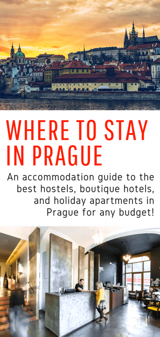 Where to Stay in Prague Czech Republic - A guide to the best hostels, boutique hotels, and holiday apartments in Prague. Whether you're traveling to Prague on a budget or can afford luxury accommodations, this guide is for you! #prague #czechrepublic #europe #travel #budgettravel