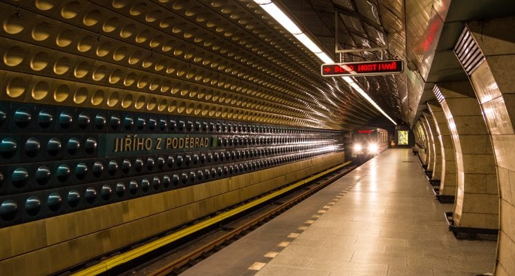 how to use public transport in prague - metro station