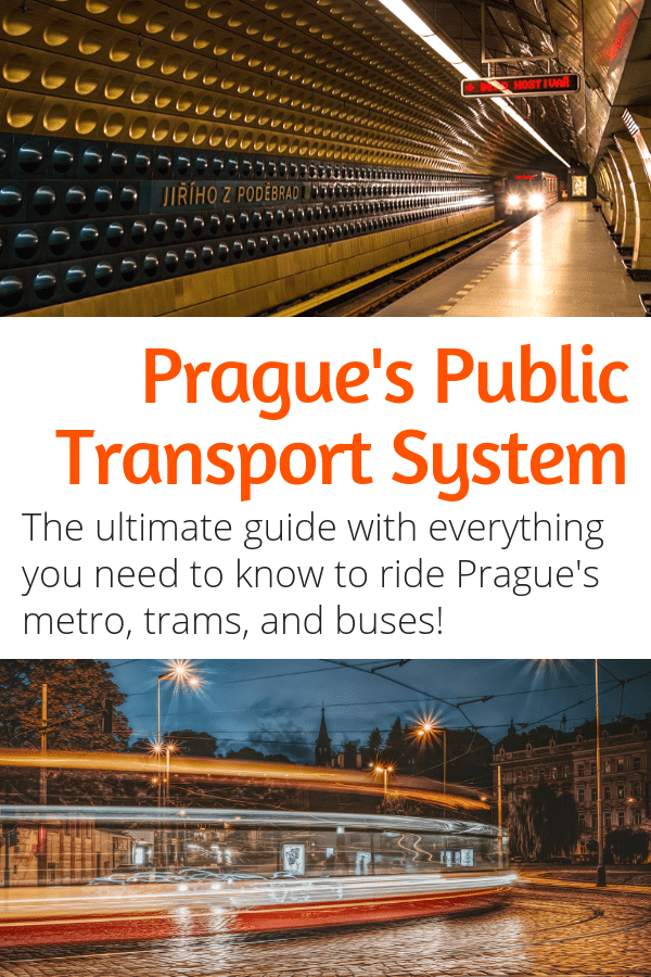 Prague Public Transport Guide - Everything you need to know about Prague's public transportation system. Including riding the Prague metro, trams, and buses. #prague #czechrepublic #europe #travel