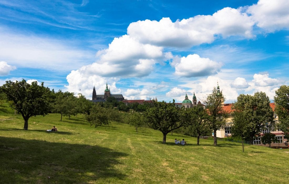 when to visit prague - petrin hill in spring