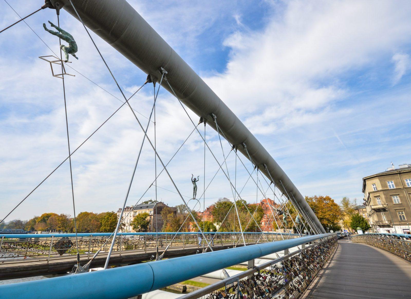 Bernatek Footbridge in Krakow
