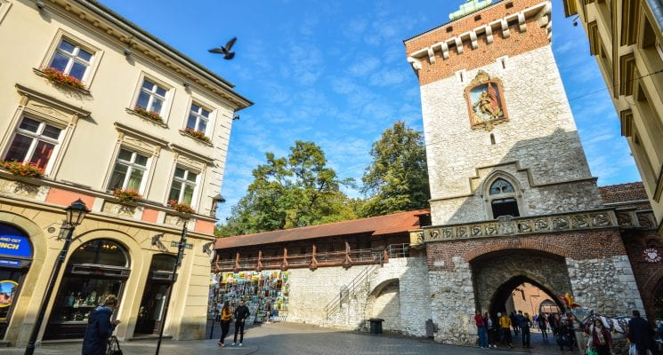 St. Florian Gate in Krakow Poland