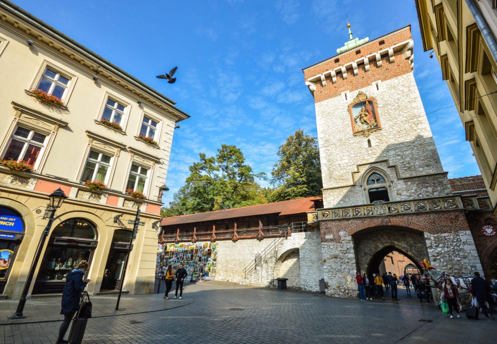 St. Florian Gate in Krakow Poland