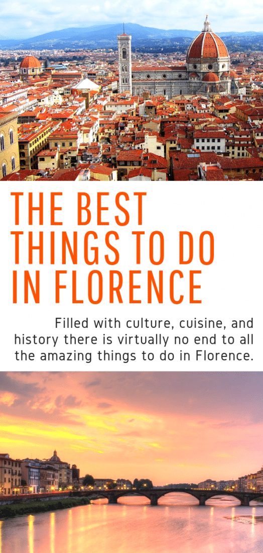 The Best Things to Do in Florence Italy - Full of culture, cuisine, and history there is no end to the amazing things to do in Florence! Click here for the best guide to visiting this awesome Italian city! #italy #florence #europe #travel #travelinspiration