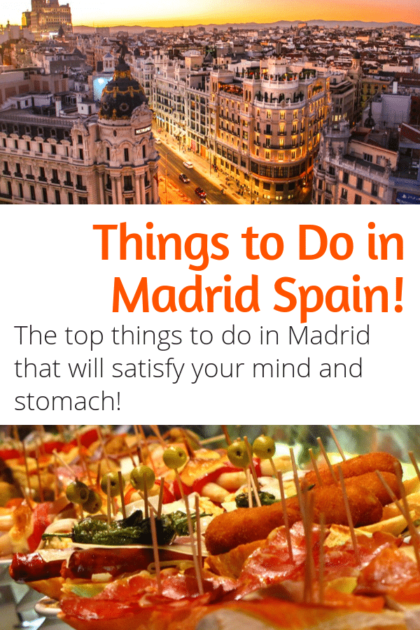 Top Things to Do in Madrid Spain - Looking for the best things to do in Madrid to feed your mind and body? This guide will satisfy both! #madrid #spain #europe #travel