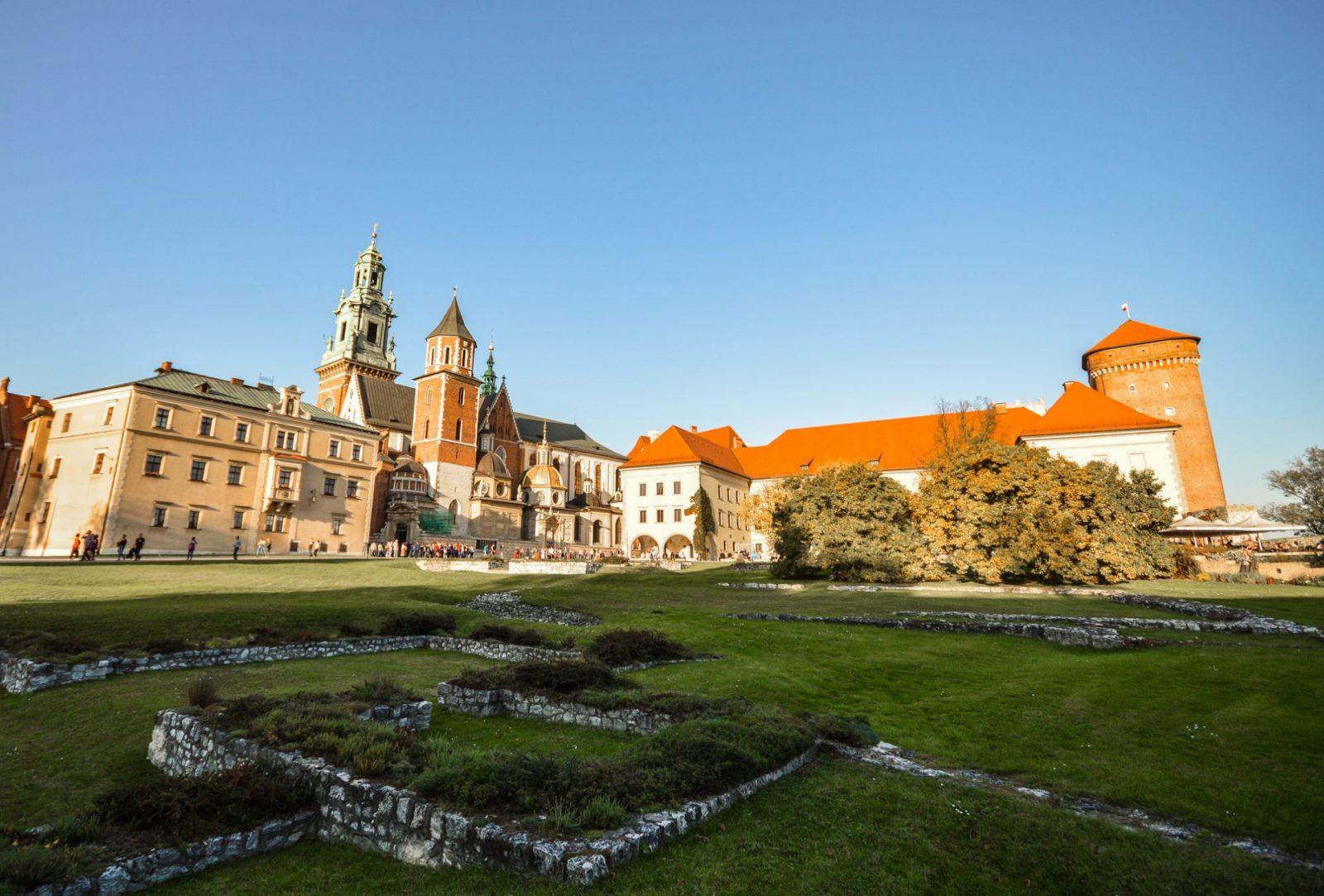 Wawel Castle Gardens in Krakow