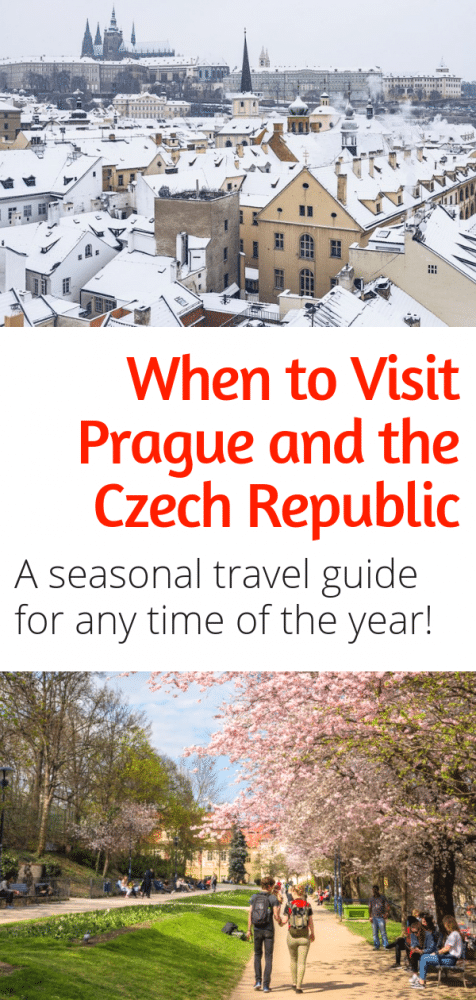 When to Visit Prague - Thinking of visiting Prague this summer? Want to see the Christmas markets in Prague this winter? Here are all the best things to do in Prague (and the rest of the Czech Republic) during any season. #prague #czechrepublic #europe #travel #wintertravel #christmasmarkets