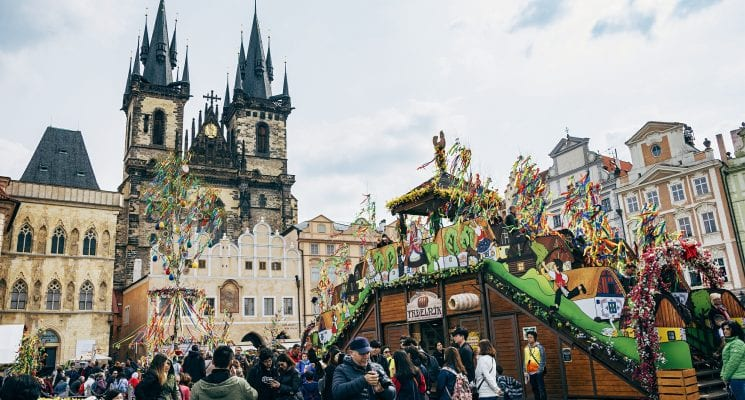 places to visit in prague - old town square