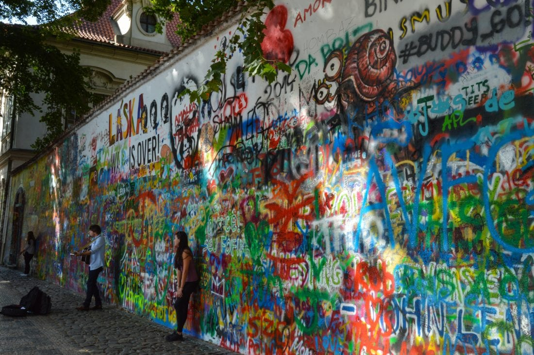 places of interest in Prague, John Lennon Wall