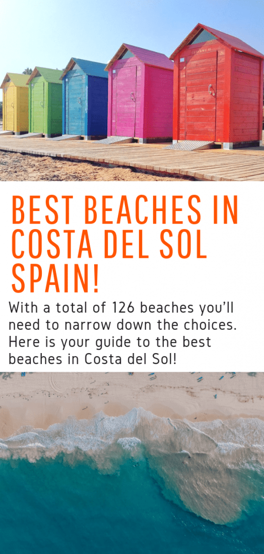 The Top Costa del Sol Beaches - Looking for the best beaches in Costa del Sol Spain? With over 100 beaches in the region you'll need to narrow the choices. This guide is for you! #costadelsol #spain #beaches #europe #travel #playa