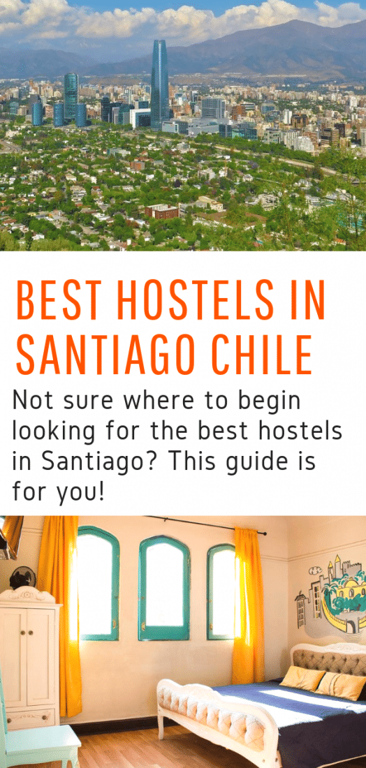 Looking for the best hostels in Santiago Chile? Want to save your travel budget for all the great things to do in Santiago? This guide is for you! #budgettravel #santiago #chile #hostels #travel #southamerica