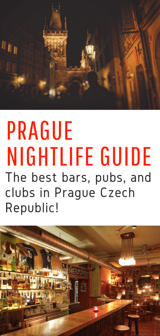 Prague Nightlife Guide - Looking for the best things to do in Prague at night? Here's your guide to the best bars, pubs, and clubs in Prague Czech Republic! #prague #czechrepublic #nightlife #europe #travel