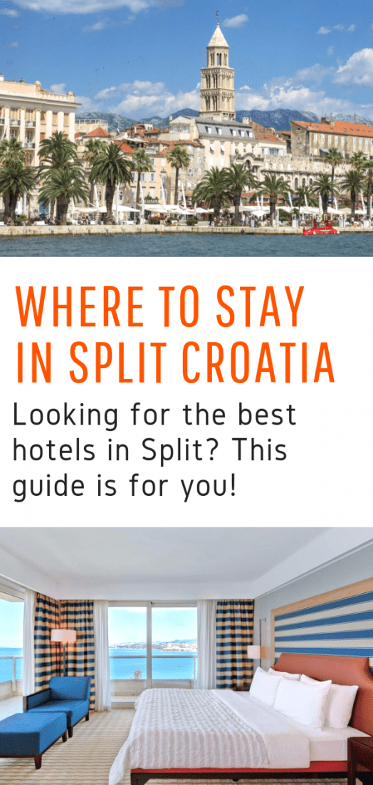 Want to know where to stay in Split Croatia? Looking for the best hotels in Split for any budget? This guide is for you! Bonus: Best hostels in Split included! #hotels #split #croatia #europe #travel