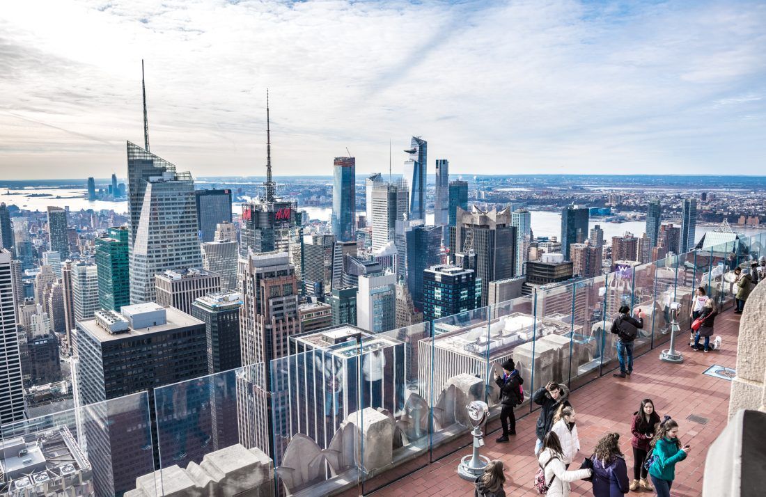Things to Do in New York City for a first time visitor - The top of the Rock observation deck