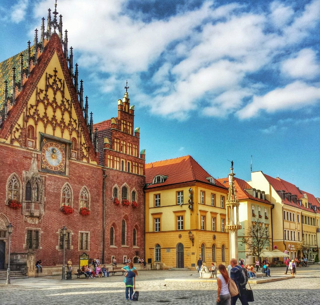 places to visit in Poland - Wroclaw old town square