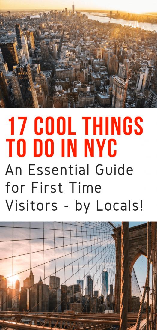 An essential guide to the top things to do in New York City for first time visitors! If you're visiting the city this guide of the best things to do in NYC by locals is for you. #nyc #newyorkcity #newyork #travel #bigapple