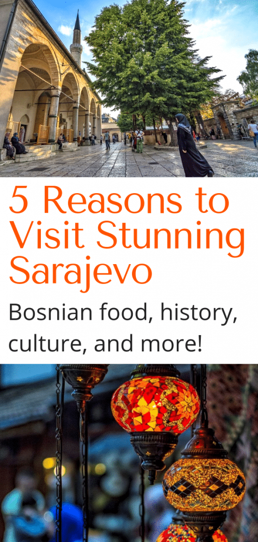 5 Reasons to Visit Sarajevo Bosnia - Sarajevo is steeped in history and culture, and is an amazing travel destination. Here are 5 reasons to travel to Sarajevo, and things to do in Sarajevo Bosnia! #sarajevo #bosnia #travel #europe #europeantravel